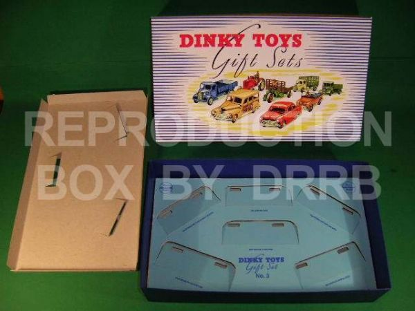 Dinky #199 ( Gift Set 3 ) Passenger Cars - Reproduction Box
